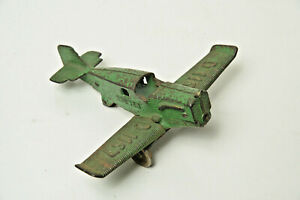 VINTAGE! Hubley Bremen Cast Iron Toy Airplane - D1167 Bremen Junkers Green 1930s