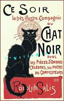 Chat Noir Ce Soir 1896 French Theater Vintage Poster Print Classic Black Cat Ad
