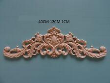 Decorative wooden large center appliques furniture mouldings onlay applique W48