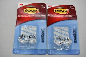 2-PACK 3M Command Clear Medium Crystal Hook Holds 2 lb.