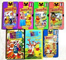 WInnie the Pooh collana di 7 videocassette VHS anni 90