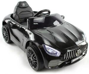 Mercedes AMG GT, Eva Räder, Kinderauto Kinderfahrzeug Kinder Elektroauto schw