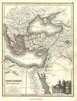 Eastern Roman Empire Byzantine world pantheon 1820 Thomson Hewitt Decorative map