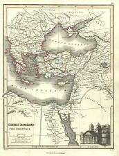 Eastern Roman Empire Byzantine world pantheon 1820 Thomson Hewitt Decorative map