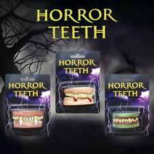 Cosplay Dentures Zombie Vampire Teeth Ghost Devil Fangs Halloween Fancy Props UK