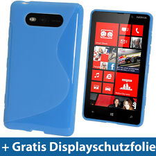 Zweiton Blau Tasche TPU für Nokia Lumia 820 Windows Kristall Gel Hülle