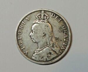 GREAT BRITAIN : SILVER  FLORIN 1889.  0.925  SILVER. QUEEN VICTORIA.