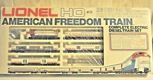 LIONEL HO 2587 AMERICAN FREEDOM ELECTRIC DIESEL TRAIN SET OB