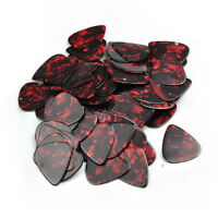 Lots of 100 pcs medium 0.71mm   guitar picks  plectrums Celluloid pearl red