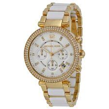 Michael Kors MK6119 Parker Gold Tone Glitz Chronograph Women's Watch