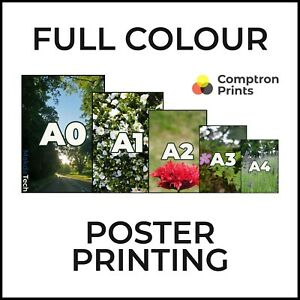 Personalised Custom Colour Printing Matt Poster  | A5 A4 A3 A2 A1 A0 | UK