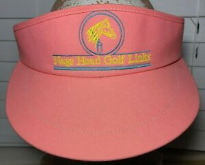 Vintage NAGS HEAD GOLF LINKS Adult Adjustable Pink Visor Hat Vaporwave (T2)
