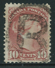 """Canada #45(4) 1897 10 cent brown red QUEEN VICTORIA """"R""""EGISTERED Cancel CV$80.00"""