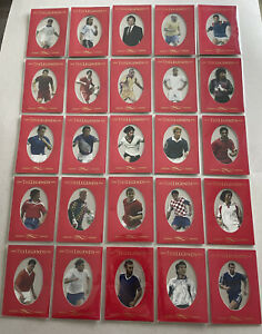 The Legends Limited Edition Cards # 1-25 Very Rare Card Set