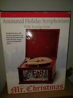 Mr Christmas animated  Holiday Symphonium Victorian park scene w/16 discs IOB