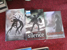 set of 3 books by Becca Fitzpatrick :Crescendo: Silence : hush,hush