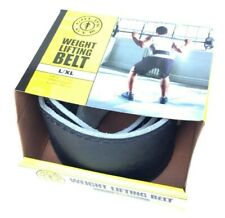 Golds Gym Leather Weight Lifting Belt Strength Power Bak Padded L/XL 34-42 in DD