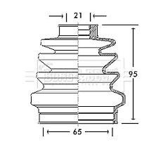 Borg & Beck Driveshaft Bellow CV Joint Boot Kit BCB2687 - 5 YEAR WARRANTY