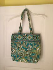 Vera Bradley Turquoise/Green/Brown/White Flowered Tote NWOT