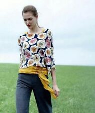 NWT Anthropologie $98 Knitted Knotted Tansy Pullover Floral Sweater Top - Size L