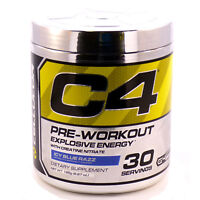 Cellucor C4 G4 Energy Pre-Workout Supplement Icy Blue Razz 30 Servings