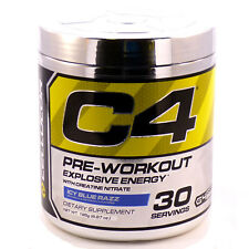 Cellucor C4 G4 Energy Pre-Workout Supplement Icy Blue Razz 30 Srv Clumpy READ