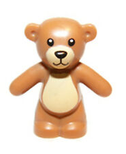LEGO Friends TEDDY BEAR Animal Brown Medium Dark Flesh Minifigure toy accessory