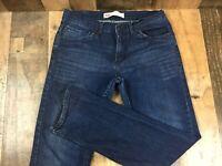 Levis 511 slim womens 16 regular dark wash jeans 28x28