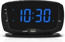 Alarm Clock Radio with Dual Usb Charging Port,1.4 Inches Clear Readout, Lightwei