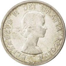 [#41032] CANADA, Dollar, 1960, Royal Canadian Mint, KM #54, AU(55-58), Silver