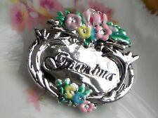 #370A Danecraft GRANDMOTHER Vintage Brooch Flowers Victorian Mother's Day NEW