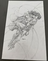DC Comics Superman Wonder Poster Insert  Exclusive Jim Lee Justice League New 52