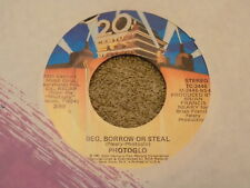 """PHOTOGLO we we're Meant To Be Lovers / Bef Borrow Or Steal 7"""" 45"""