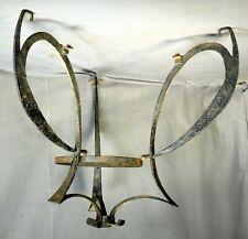 New listing Antique Hand Wrought Iron Kerosene Chandelier Frame Arts Crafts Nouveau Parts