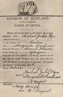 VINTAGE REPRODUCTION of a GRETNA GREEN MARRIAGE CERTIFICATE POSTCARD - UNUSED