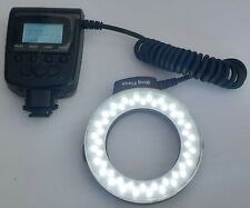 Electronic Ring Flash for DSLR Cameras - LCD Display - Nikon, Canon, Olympus etc