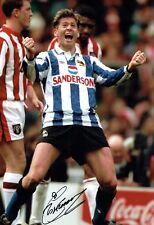 Chris WADDLE Signed Autograph 12x8 Photo Sheffield Wednesday Legend AFTAL COA