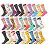 Mens Cotton Socks Novelty Colorful Funny Unisex Dress Socks For Wedding Gifts