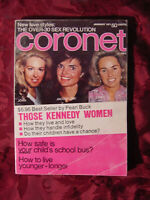 CORONET January 1971 KENNEDY PEARL BUCK SHIRLEY JONES Johnny Unitas Joe Namath