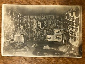 Real Photo Taxidermist Post Card Vintage Antique
