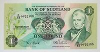 Bank of Scotland 1986 - 1 Pound - P-111f.4 - Uncirculated (Sir Walter Scott)