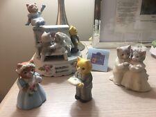 "Kitty Cucumber Schmid ""The Reception� Wedding Set Figurines Music Box 62/5000 🕊"