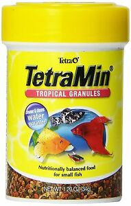 TETRA TROPICAL GRANULES SMALL FISH RICH MIX 1.2 OZ FISH FOOD. FREE SHIP TO USA