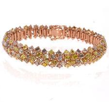 Pink Diamanten - Armband 24.5ct Natürlich Schicke Rosa Gelb