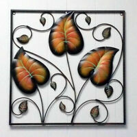3-Leaf Frame Vine Plant Wrought Iron Wall Decoration Metal Art