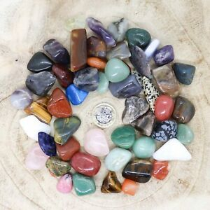 50 x Assorted Crystal Tumblestone Sets Collections 441g-546g Reiki seconds