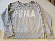Puma Ladies womens M Long Sleeve crew neck sweater shirt TD8543 Grey Heathr NWT#