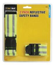 2X Reflectante Fluorescente Seguridad Cintas Hi Vis MANGUITOS & Cinturón
