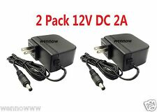 2 Pack 12V 2A 12 Volt DC 2 Amp Surveillance Camera Power Supply For Q-See