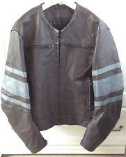 "Brown Tough Leather Motorbike Biker Bomber Jacket Protective Men's Medium 40"""